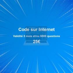 Code sur Internet : 25€